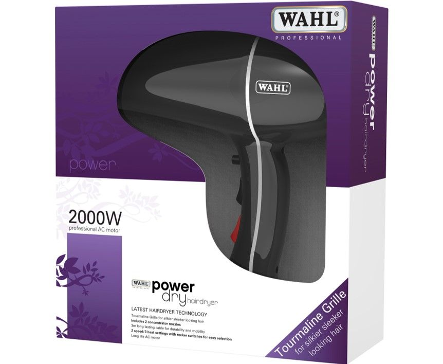 Wahl Power Dry 2000w Hair Dryer Black