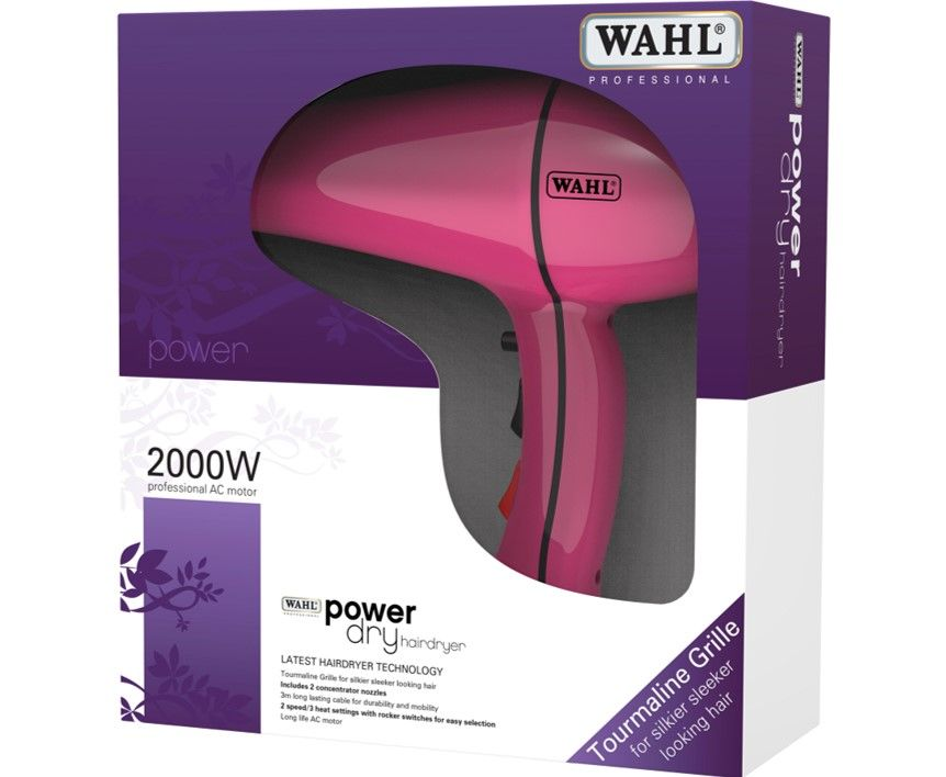 Wahl Power Dry 2000w Hair Dryer Pink