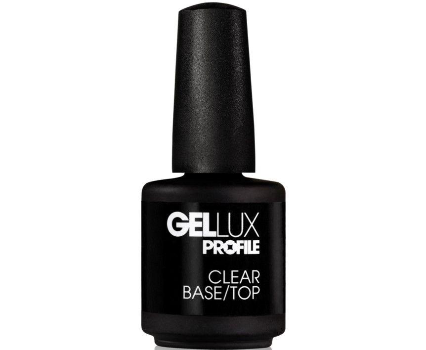 Gellux Clear, Base & Top Coat 15ml