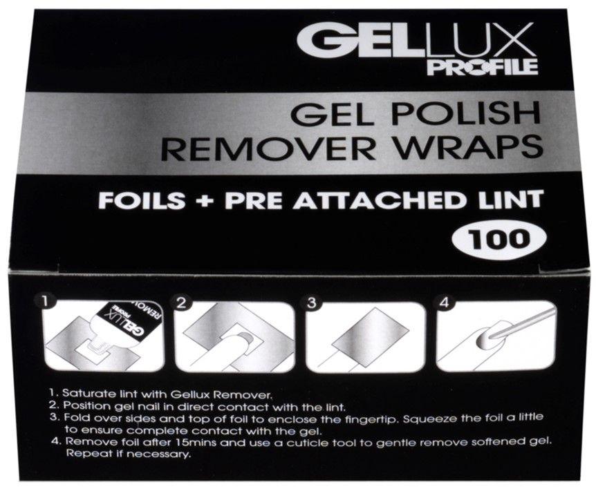 Gellux Gel Polish Remover Foil Wraps 100 Pack