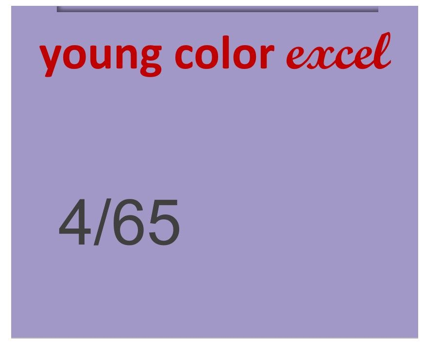 Young Color Excel 70ml 4/65