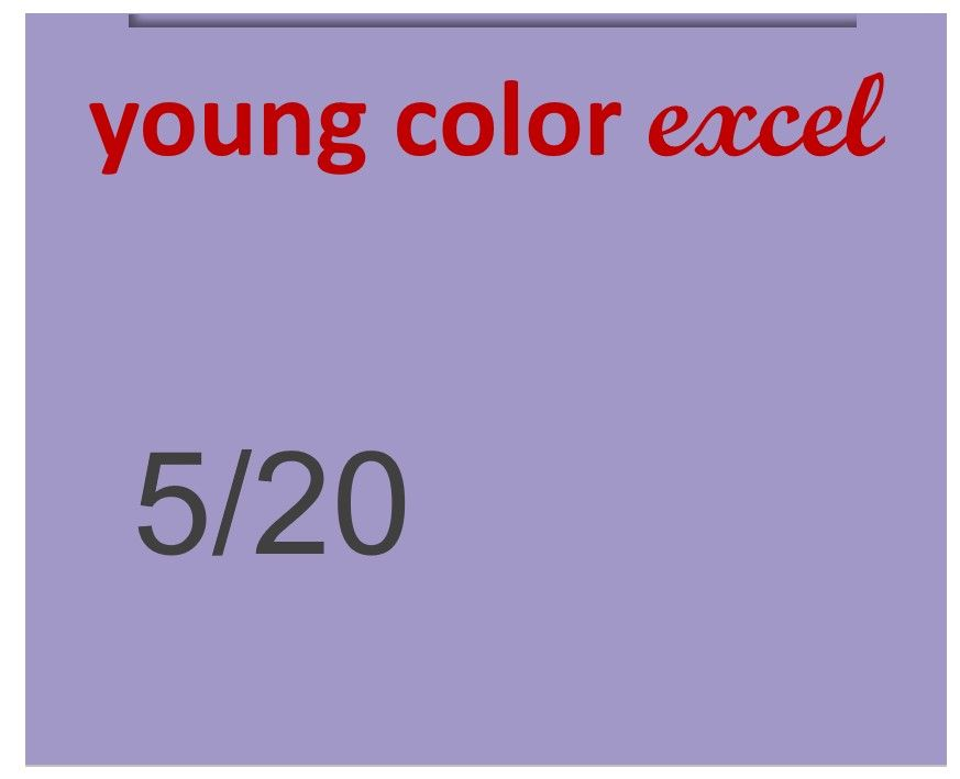 Young Color Excel 70ml 5/20