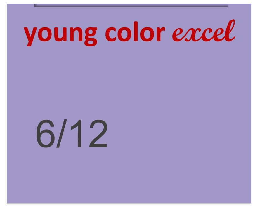 Young Color Excel 70ml 6/12
