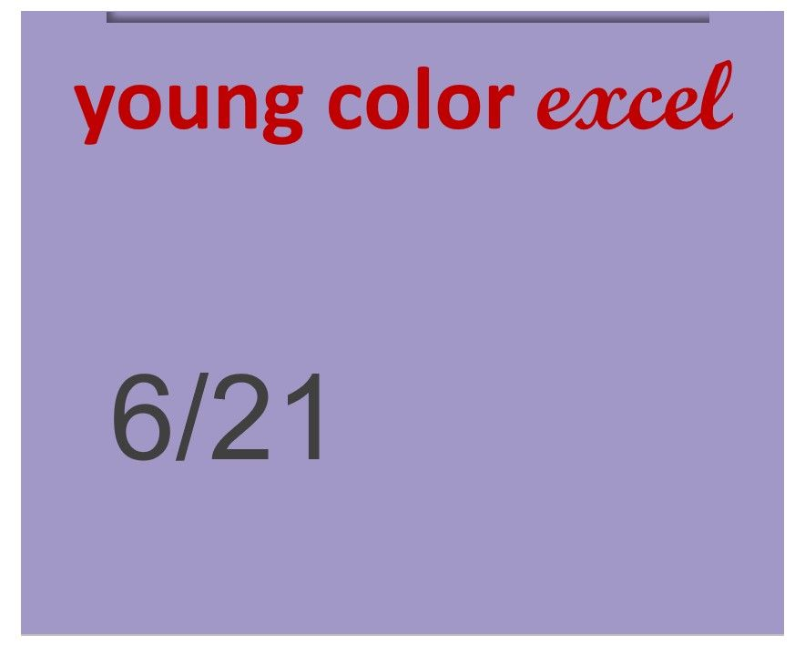 Young Color Excel 70ml 6/21