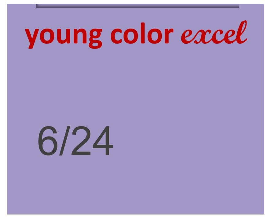Young Color Excel 70ml 6/24