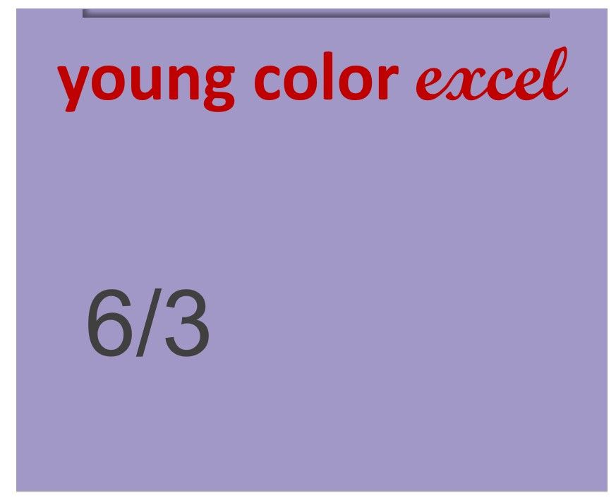 Young Color Excel 70ml 6/3