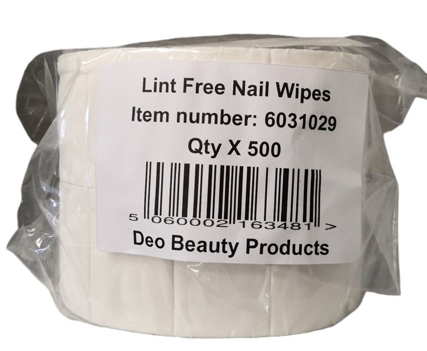 DEO Lint Free Nail Wipes On A Roll 500 Pack