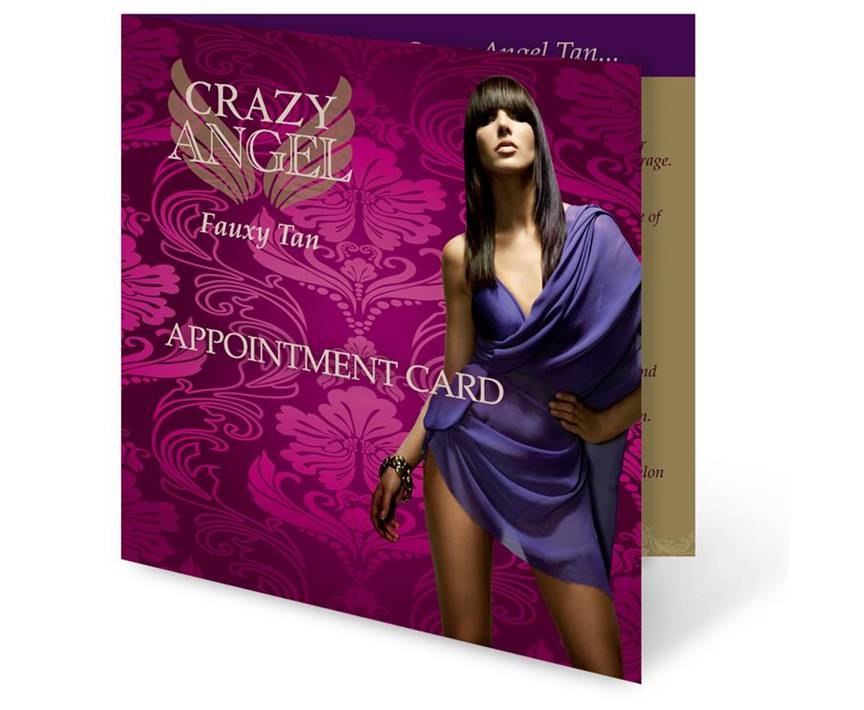 Crazy Angel Salon Appointment Cards 25 Pack