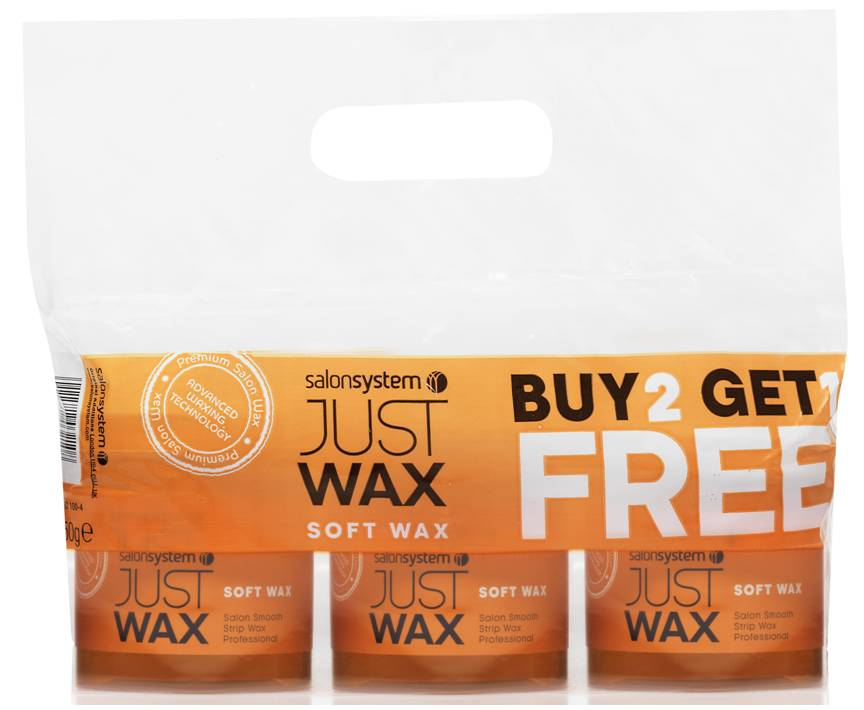 Just Wax Soft Wax 450g 2+1 Free Pack
