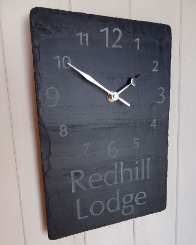 HOUSE NAME Clock