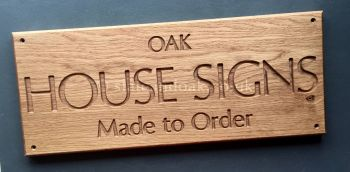 SOLID OAK HOUSE SIGN (large)
