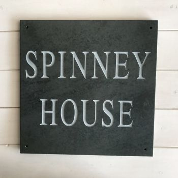 slate house sign SPINNEY HOUSE