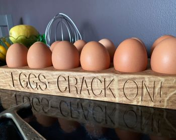 Solid Oak Egg Holder