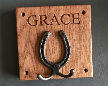 Personalised Horseshoe Hook