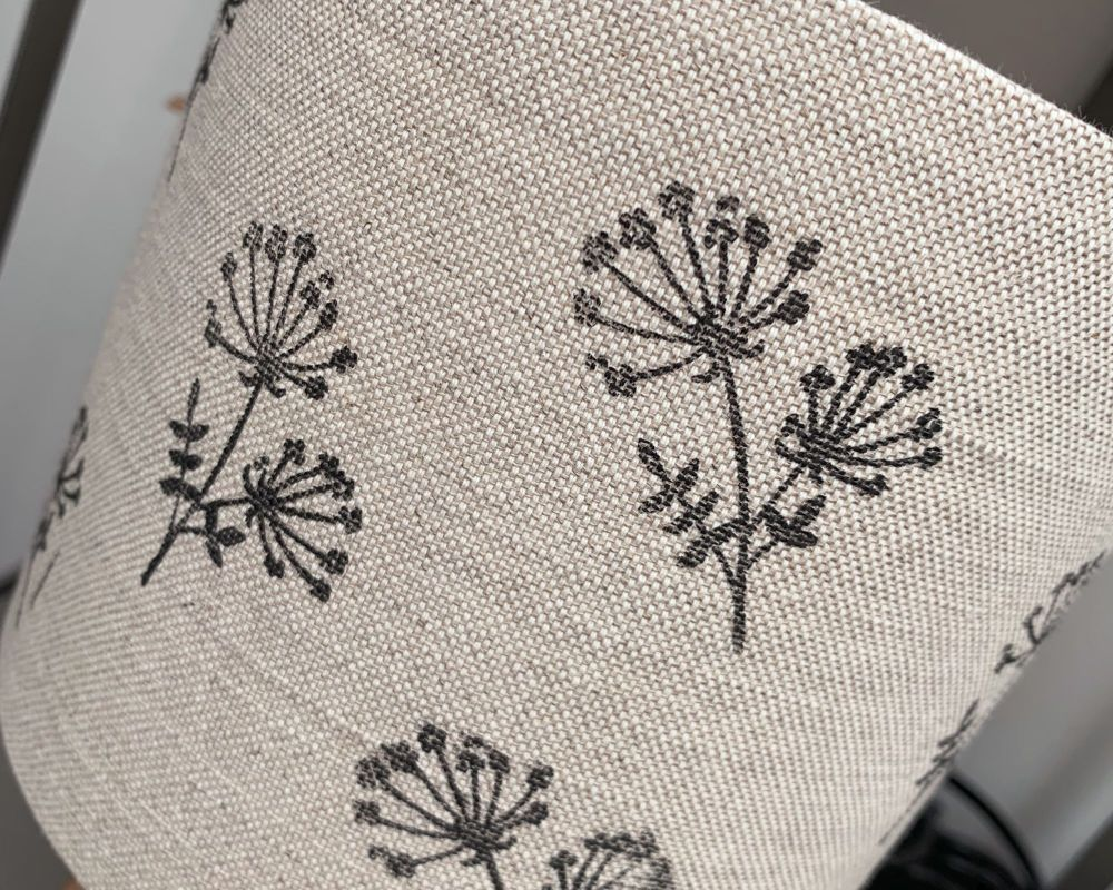 HAND PRINTED COW PARSLEY