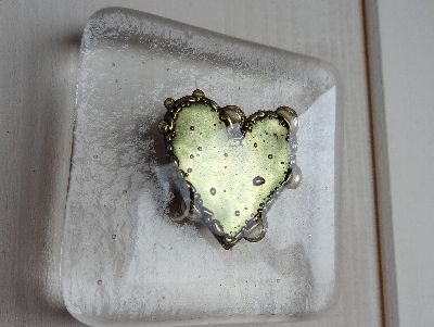 Gold Heart Magnet