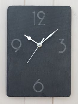 Deco style numbers clock