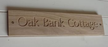 SOLID OAK House Sign (small)