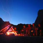 Camp fire on the beach - Greenland