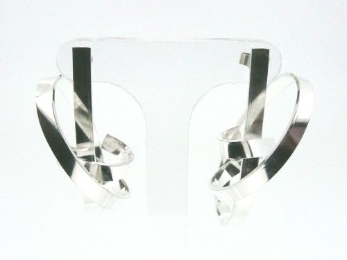Silver Manic Ribbon Earrings
