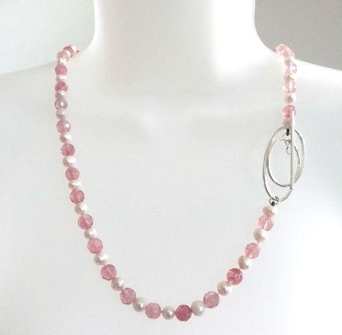Pearl & Strawberry Quartz Flower