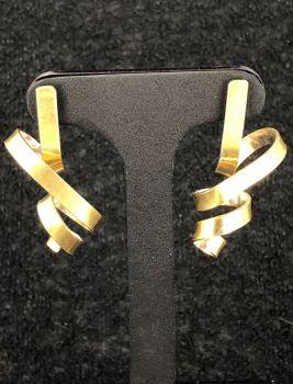 Silver/Gold Ribbon Earrings