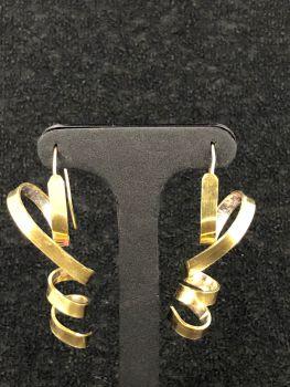 Silver/Gold Wire Ribbon Earrings