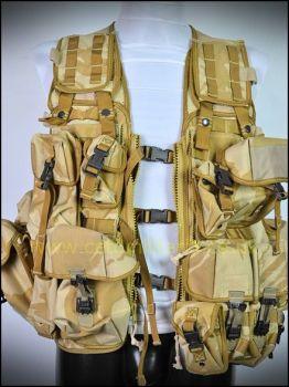 Desert MOLLE Tactical Load Vest (+Pouches)