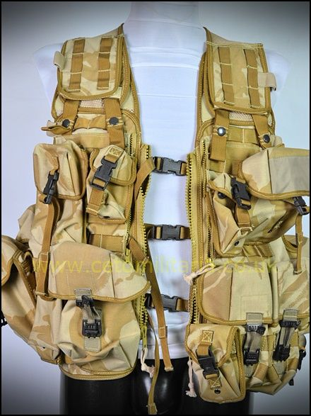 Desert MOLLE Tactical Load Vest (+Pouches)