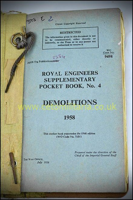RE Pocket Book No4, Demolitions, 1958