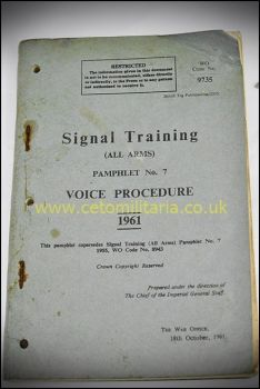 Signal Training, Voice Procedure, 1961