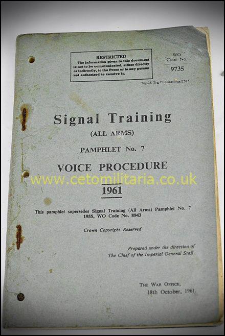 Signal Training, Voice Procedure, 1961