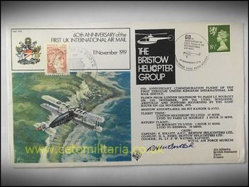 FDC - 60th Annv 1st UK Int Airmail 1979