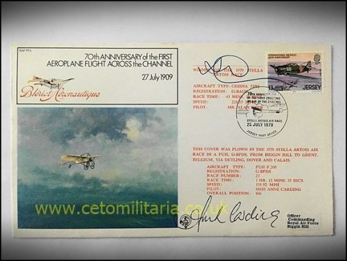 FDC - 70th Annv. Bleriot Cross Channel 1979