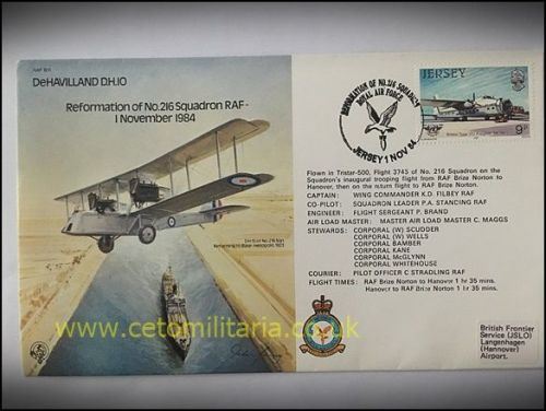 FDC - 216 Squadron Reformation 1984