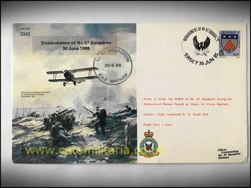 FDC - No57 Sqn Disbandonment 1986