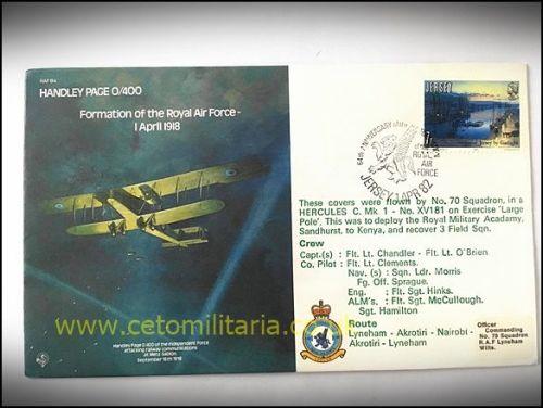 FDC - RAF Formation HP 0/400 1982