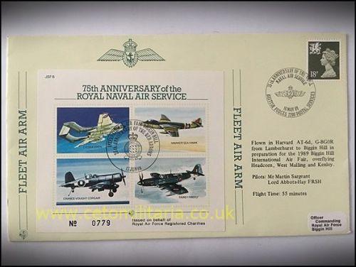 FDC - RNAS 75th Anniversary 1989