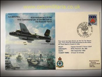 FDC - 40th Annv RAF Mitchell 1983