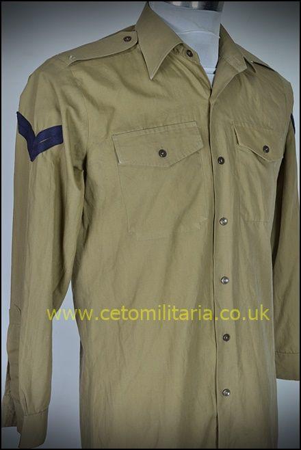 No2 Shirt, Khaki, Corp (14.5