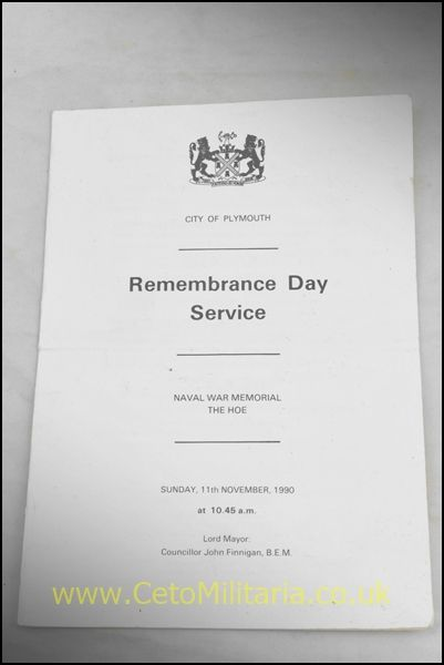 Plymouth Remembrance Day Service 1990