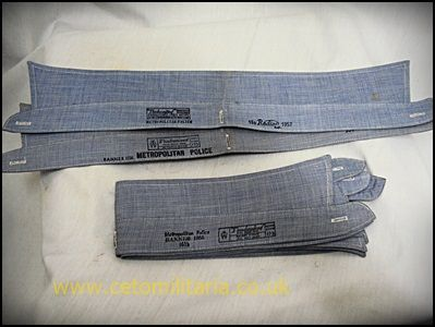 Shirt Collars, Detachable, Blue (Met Police, 1950s) x7