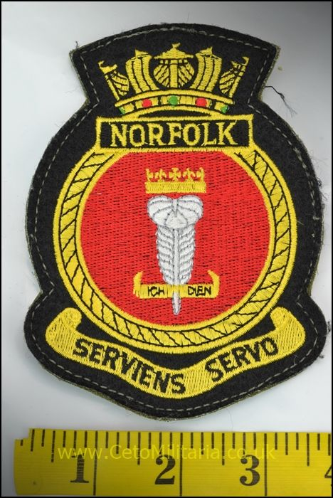RN HMS Norfolk Patch (Velcro)