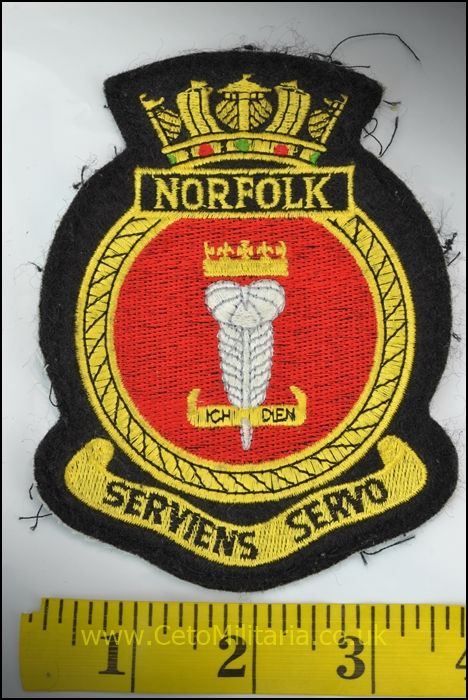 RN HMS Norfolk Patch