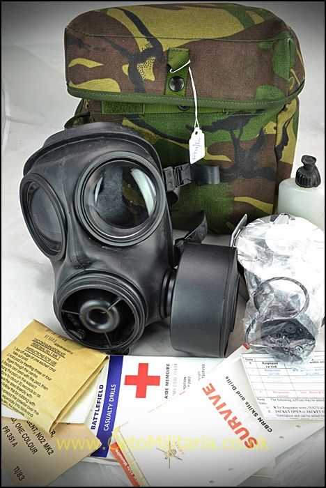 Gas Mask/Respirator, S10 (c/w Survive to FIght)
