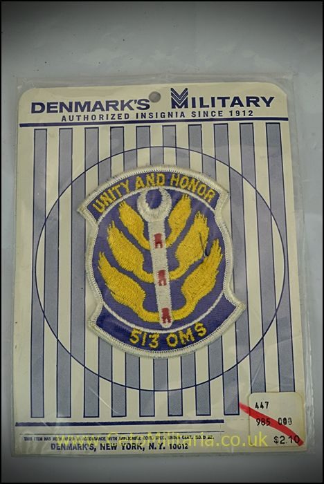 Patch USAF 513 OMS