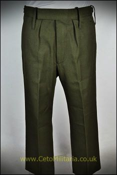 Barrack Trousers, Green, Sewn-Loops (Used)