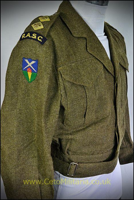 BD Blouse, RASC Lt 1945, Canadian (39/40