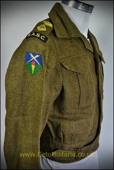 "BD Blouse, RASC Lt 1943, Canadian (35/36"")"