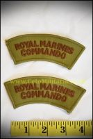 Royal Marine Commando Shoulder Titles (Pair)